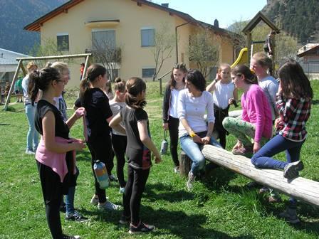 La visita degli scolari di Mazia